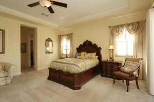 Spacious master with 2 walk-in closets