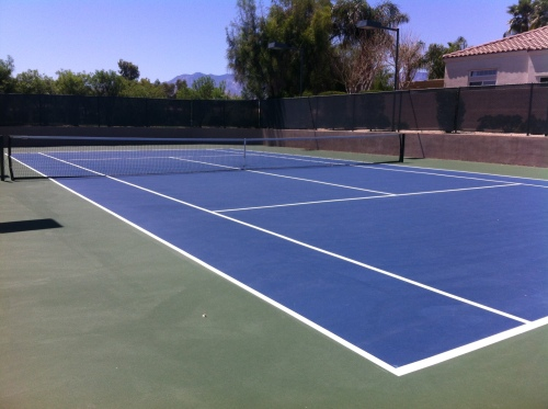 Tennis courts at Mira Vista beckon!